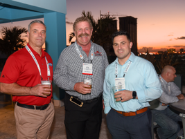 Fleet Forward kicked off with a cocktail reception at the pool of the Miami Hilton Downtown....