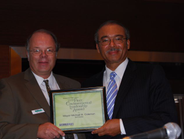 (R) Mike Antich, publisher & Green Fleet Conference chairman presents an Environmental...