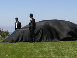 The 2010 Kizashi was revealed before the eyes of attending journalists.