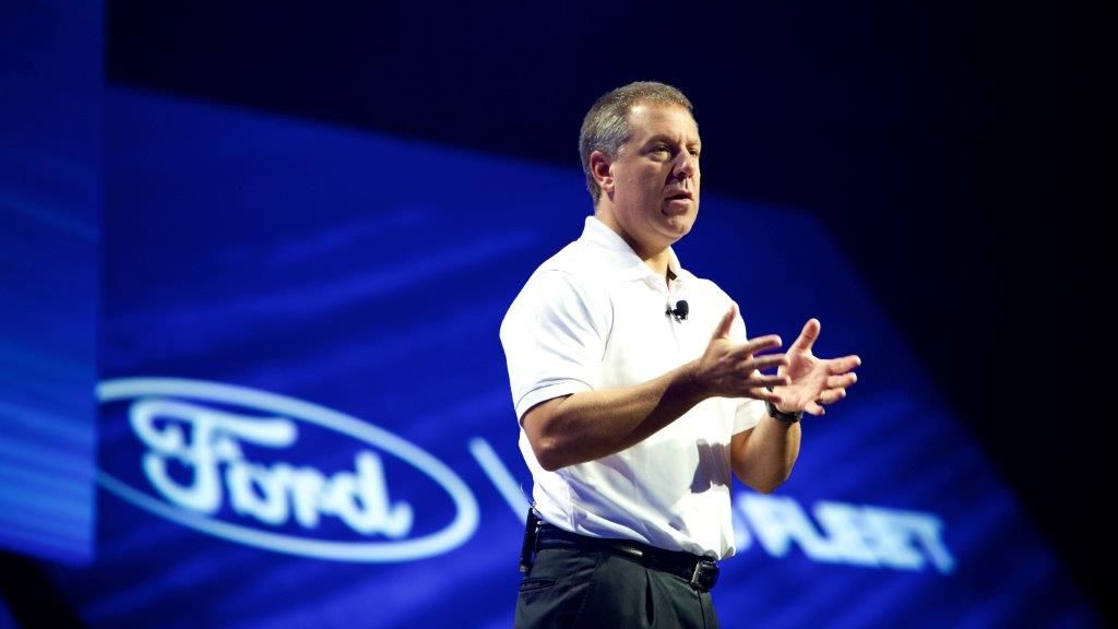 Joe Hinrichs, EVP and President of the Amercas for Ford Motor Company, spoke at the business...