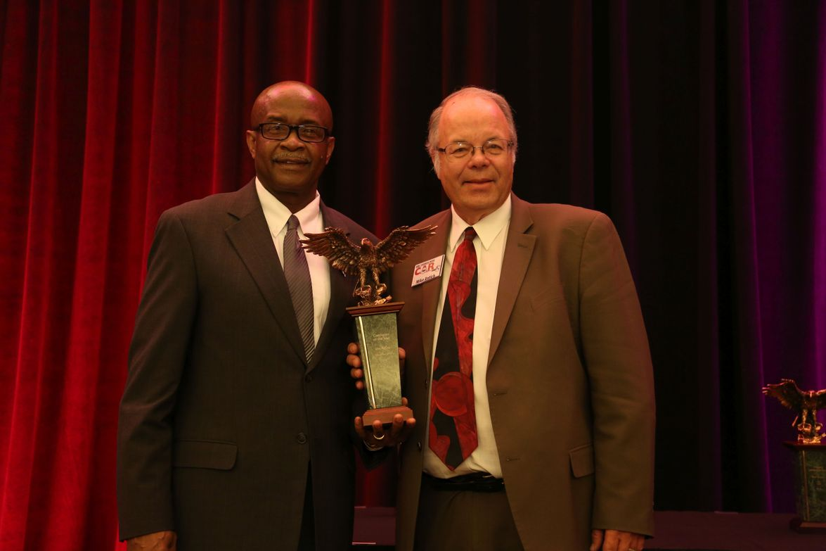 Levi McCoy, director of remarketing for LeasePlan USA, received the 2016 Consignor of the Year....