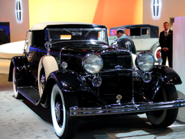 Lincoln showed one of their classic vehicles, a K-Series convertible coupe.