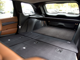 With the seats down, cargo volume rises to 68.3 cubic feet.