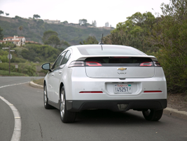 The Volt starts at $34,345. Our tested model would retail for $40,380.
