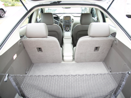 The Volt offers 10.6 cubic feet of rear cargo space.