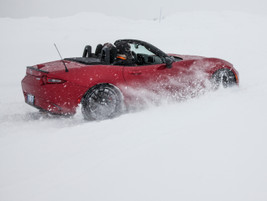 Drifting in the snow inan MX-5convertible with the top down was a huge thrill.