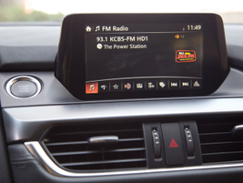 A 7-inch touchscreen display for the Mazda Connect infotainment system replaces the 5.8-inch screen.