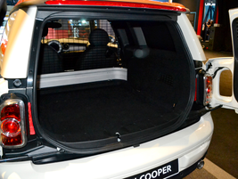 The cargo area of the Mini Clubvan features 12-volt sockets and attachment loops to secure cargo.