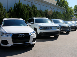 Fleet managers drove Volkswagen's Atlas mid-size SUV (second from left).