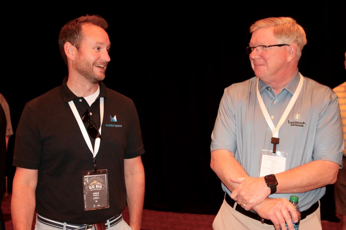 Jeffrey Perkins (left) and Joe Pelehach of Motorlease Corp.