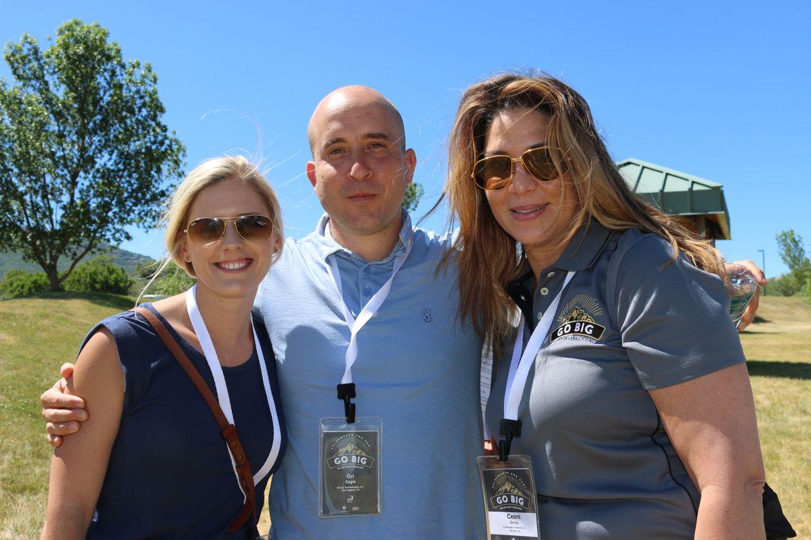 Megan Browning of Chipotle, Ori Sagie of Envoy, and Cesni Ennis of Volkswagen of America