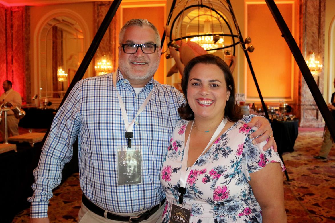 Martin Kiel and Michelle Franco-Birriel of Volkswagen of America