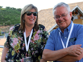 LabCorp's Lynda Dinwiddie and Mike Sims of the LDS church