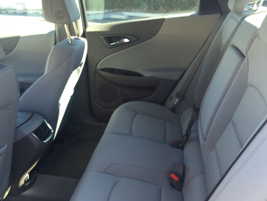 Because of its longer wheelbase, the Malibu has an additional 1.3 inches of rear legroom.