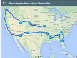 After the Work Truck Show, the truck embarked on its cross-county coast-to-coast road trip....