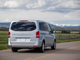 The passenger van has a maximum payload of 1,874 pounds.