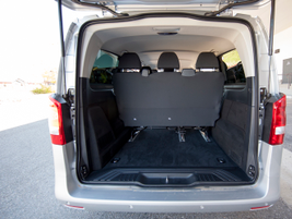 The passenger variant offers 38 cubic feet of cargo volume.