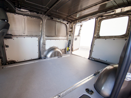 The Metris offers 186 cubic feet of cargo volume.
