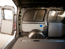 The Metris cargo van offers 111.5 inches of cargo length with a through-loading partition.