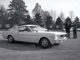 Ford sold its first Mustang on April 17, 1964 based on the T-5 prototype seen here.