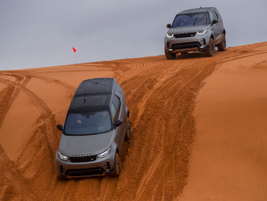 Driving sand dunes requires slower descents.