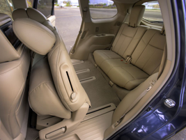 The third-row seat can recline, which Nissan stated is a segment-exclusive.