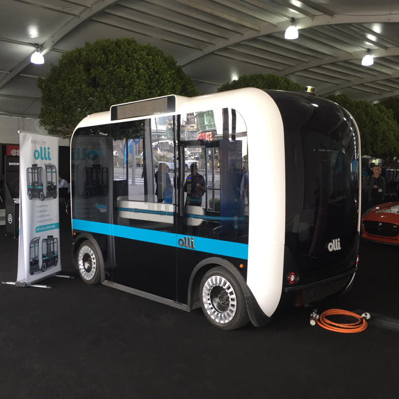 Olli had a 3D printed vehicle on display, pointing to the future of on-demand, personalized...