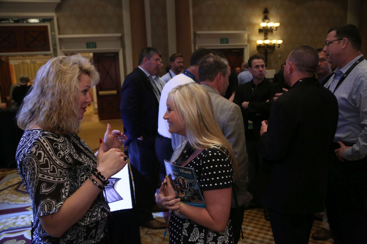 Networking was also a key component of the opening night event. Photo: Steve Reed
