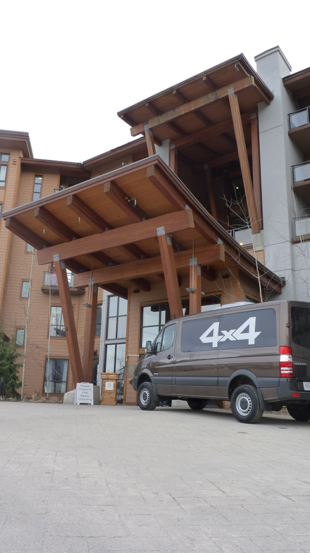 First stop: the Sutton Place Hotel at Revelstoke Mountain in British Columbia. The Mercedes-Benz...