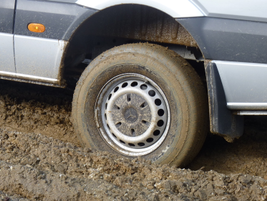 Instead we got mud, a substantial challenge for any four-wheel-drive vehicle.