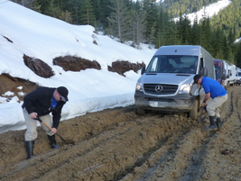 Our Sprinter caravan negotiated mud channels at times a foot deep. As the Sprinter 4x4 system...