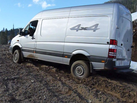 Our off-road driving skills were put to the test. After some coaching and jockeying, all vans...