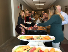 The event started with a networking lunch.