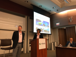 The first session of the event was presented by Lean Rutz of Wheels (r) and Brian Fisher (l) of...