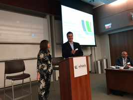 Craig Baloun of Wheels (r) and Jennifer VrMeer of Becton Dickinson (l) presented a session on...