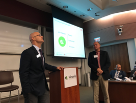 ADP's Michael Bieger (r) and his Wheels accountmanager Patrick Krapec (l) spoke on the topic of...