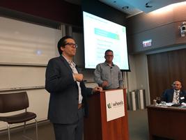 BP Pipelines' Andy Gattermeyer (r) and George Belcher of Wheels (l) spoke on risk mitigation.