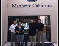 2014 CPS Heavy Hammer Award Winner: Manheim California From left: Richard Steffy, Ruby Campos,...
