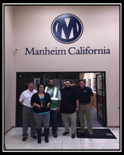2014 CPS Heavy Hammer Award Winner: Manheim California From left: Richard Steffy, Ruby Campos,...