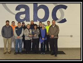 2014 Operational Excellence Award Winner: ABC Toledo Front (left to right): Jay Lashuay, Cheryl...
