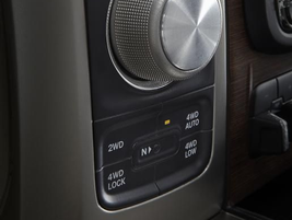 "The new 8-speed automatic is shifted via a rotary ""e-shift"" knob. Source: Ram Trucks"