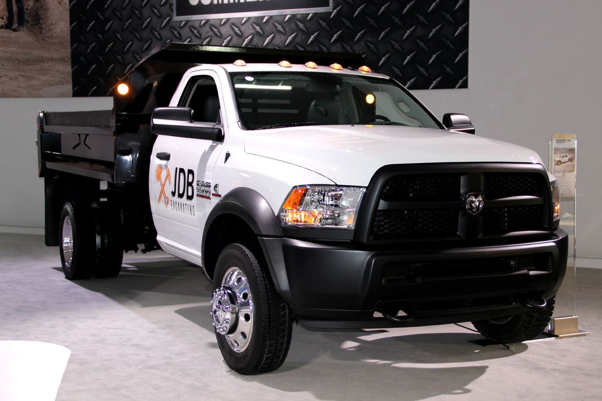 Chrysler had a display for its new Ram Commercial Truck division. The company had this Ram 5500...