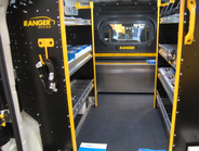 Ranger Design's ProMaster City included a Contractor Package upfit with windowed partition.