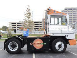 Orange EV brought one of its electric yard trucks to the ride and drive.