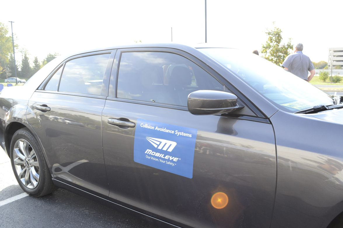 During the ride and drive, Mobileye demonstrated its safety system for attendees.
