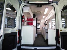 When fully stocked, the Transit will be able to serve approximately 250 disaster victims and...