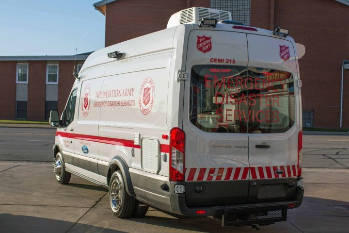 The 2016 extended-wheelbase Transit 350 will respond to emergency scenes, such as house fires or...
