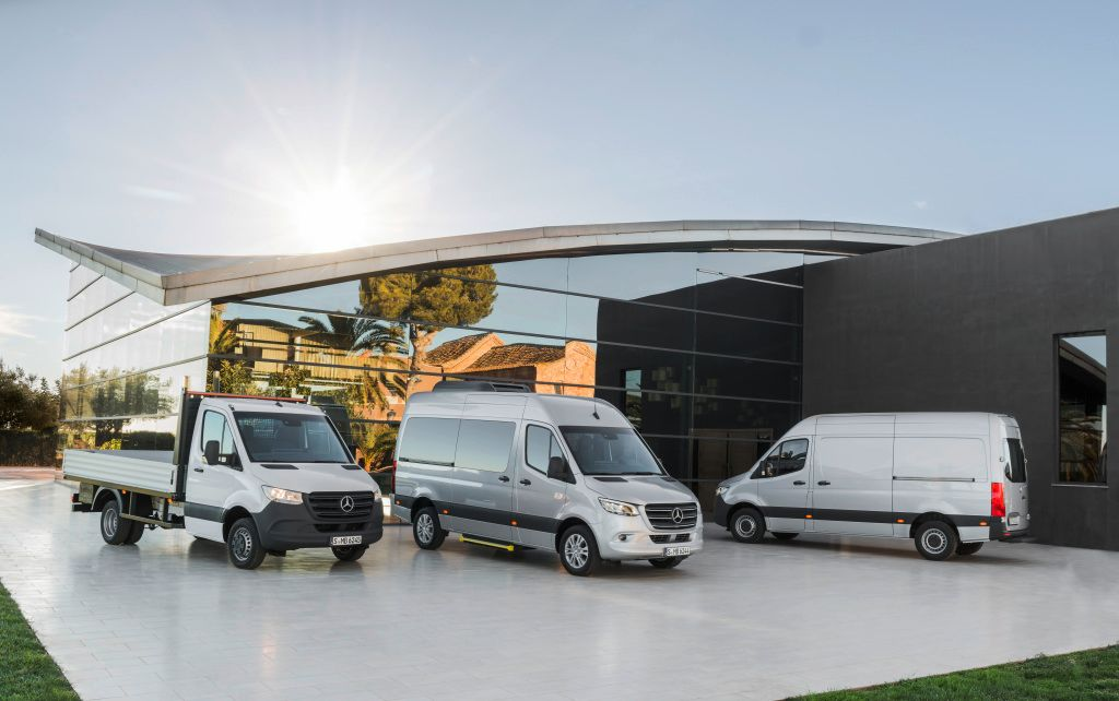 The third-generation Mercedes-Benz Sprinter will be offered in more than 1,700 configurations...
