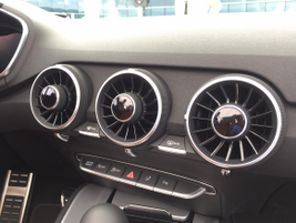 The 2016 Audi TT foregoes the ubiquitous tablet screen on the center stack. The climate control...