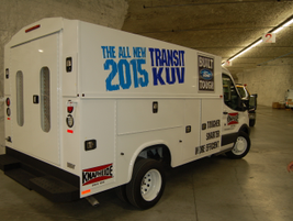On hand was a Knapheide Transit KUV utility vehicle.